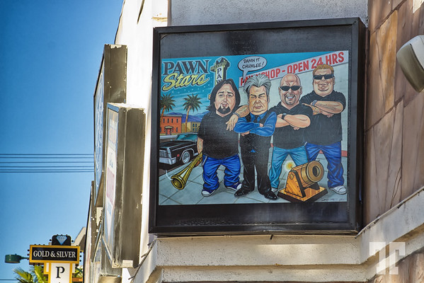 Pawn Stars image displayed outside of the store