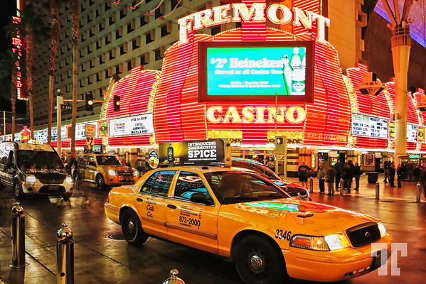 Fremont Casino Las Vegas at night