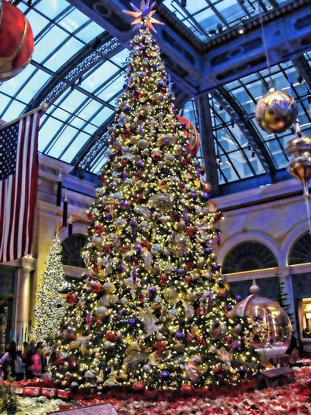 Christmas tree at Bellagio, Las Vegas
