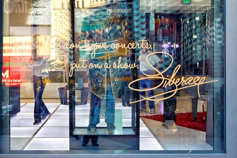 Liberace exhibit window display