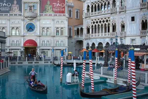Gondolas at Venetian Hotel Las Vegas