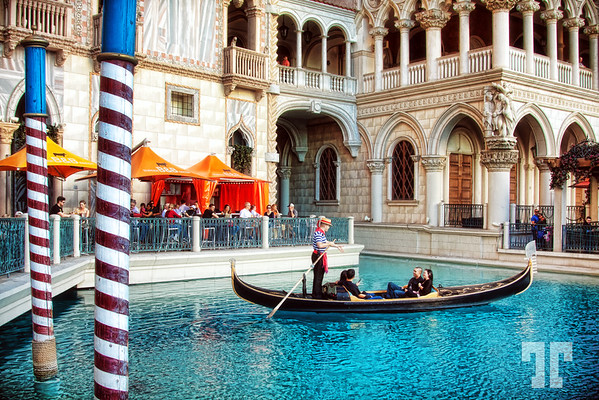 Gondola ride in Plaza San Marco at the Venetian Hotel Las Vegas