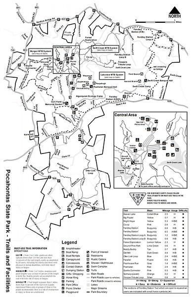 Pocahontas State Park Trail Map : pocahontas, state, trail, Pocahontas, State, Trail, Maping, Resources