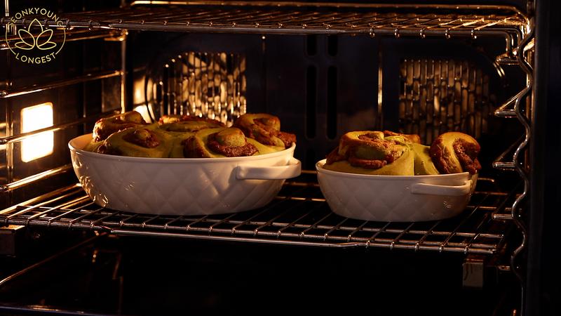 Matcha Cinnamon Rolls with Tangzhong Recipe & Video