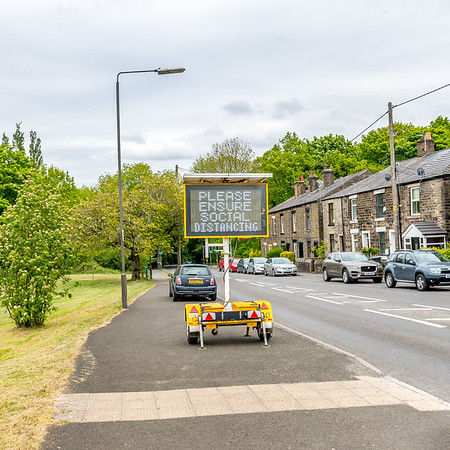 Photo of road sign on Glossop Road