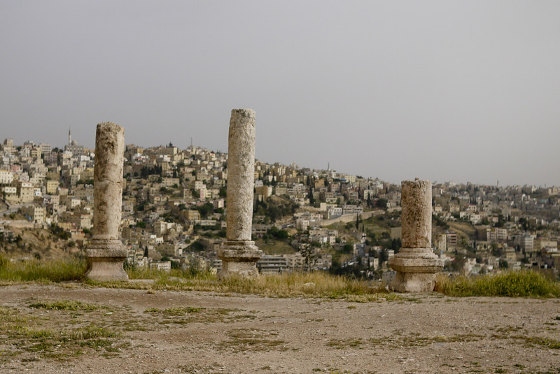 ruins of the citadel on the hill overlooking Amman