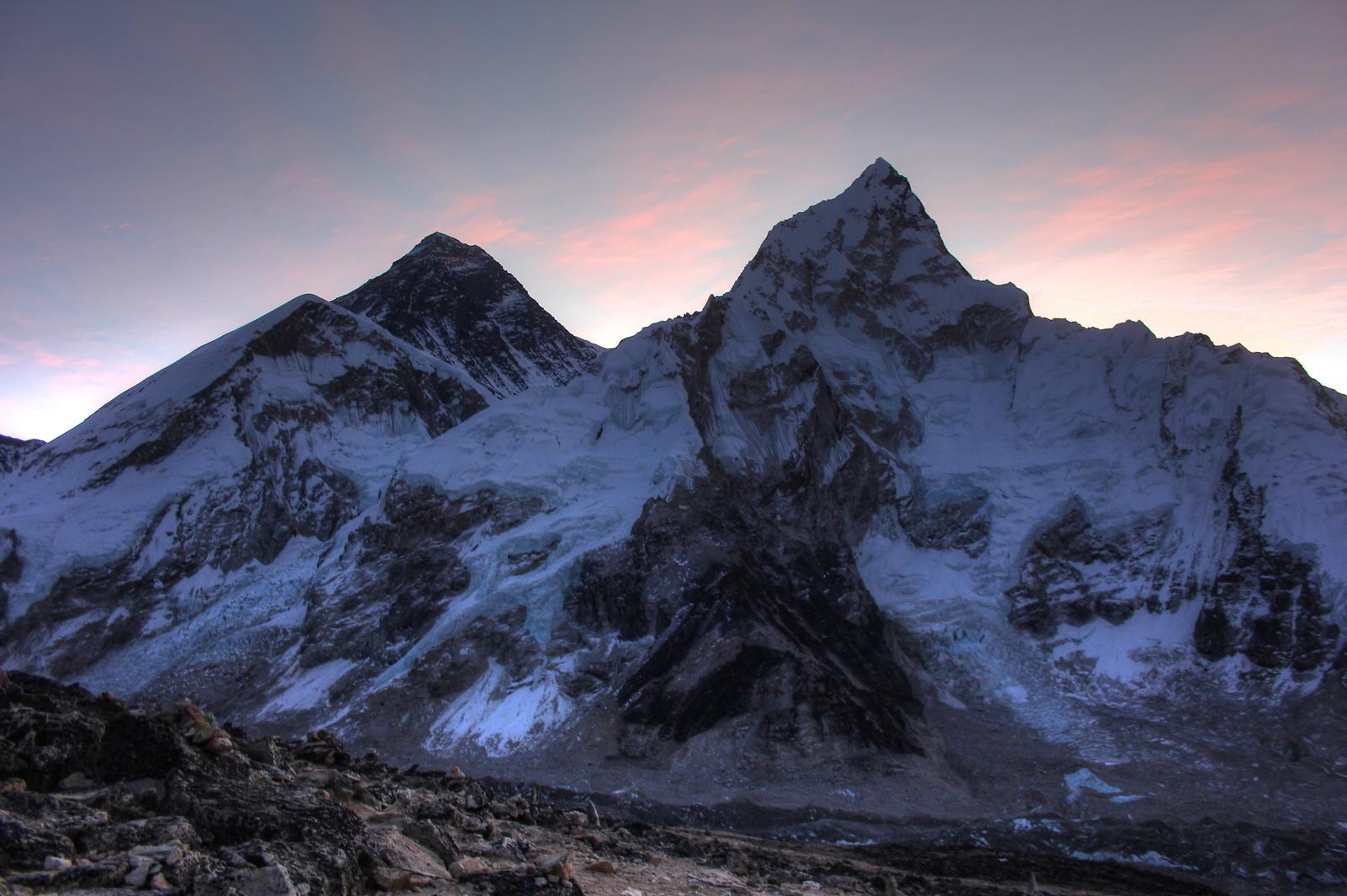 Mount Everest and Nupste Sunrise