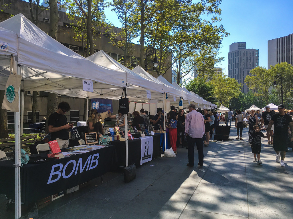 check out each and every stall at the brooklyn book festival