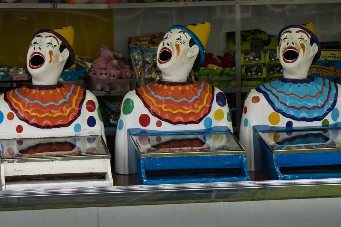 Carnival clowns in Rotorua