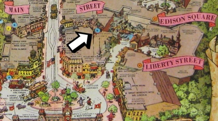 DisneylandMapDetail-Circa1960WithArrow