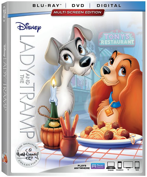REVIEW: New LADY AND THE TRAMP home release extras include great homages to Walt Disney