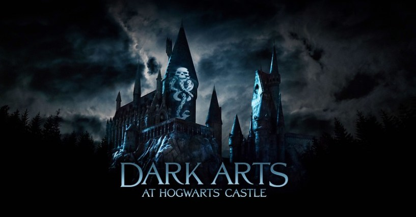 """Dark Arts at Hogwarts Castle,"" a dynamic, all-new light projection experience, comes to ""The Wizarding World of Harry Potter"" at Universal Studios Hollywood and Universal Orlando Resort"