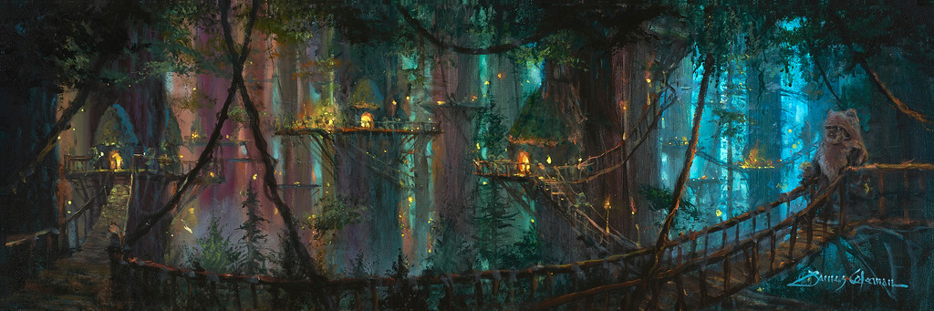 """Ewok Village"", fine art print on canvas by James Coleman"