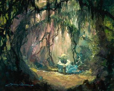 """Meditation"" fine art print on canvas by James Coleman"