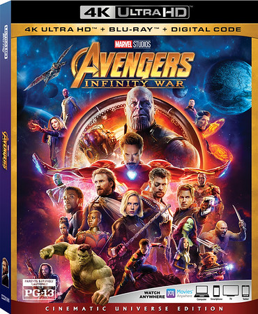 Avengers Infinity War 4K UHD Box Art