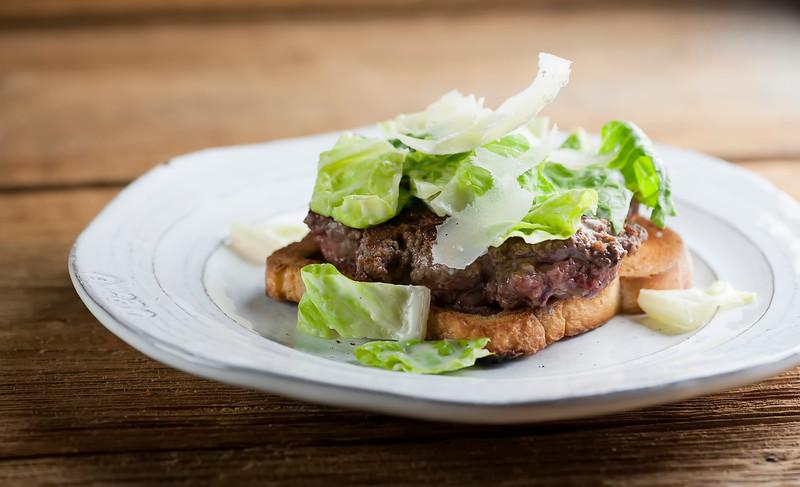 Caesar salad burgers