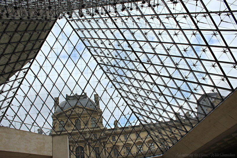 Interior view of a smaller pyramid at the Louvre
