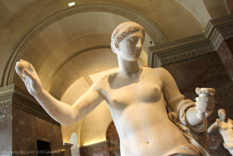 A statue of Aphrodite inside the Louvre