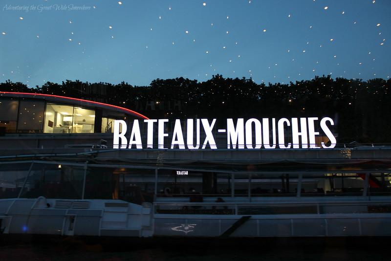 The headquarters and docking area for the Bateaux Mouches boats