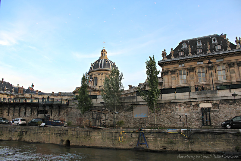 Les Invalides, seen from the upper deck of our Bateaux Mouches dinner cruise along the Seine