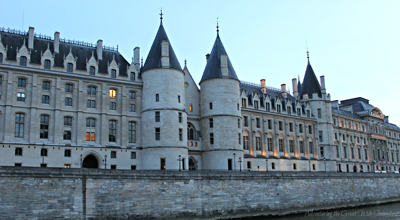 The Conciergerie, seen from the top deck of the Bateaux Mouchers Seine river cruise