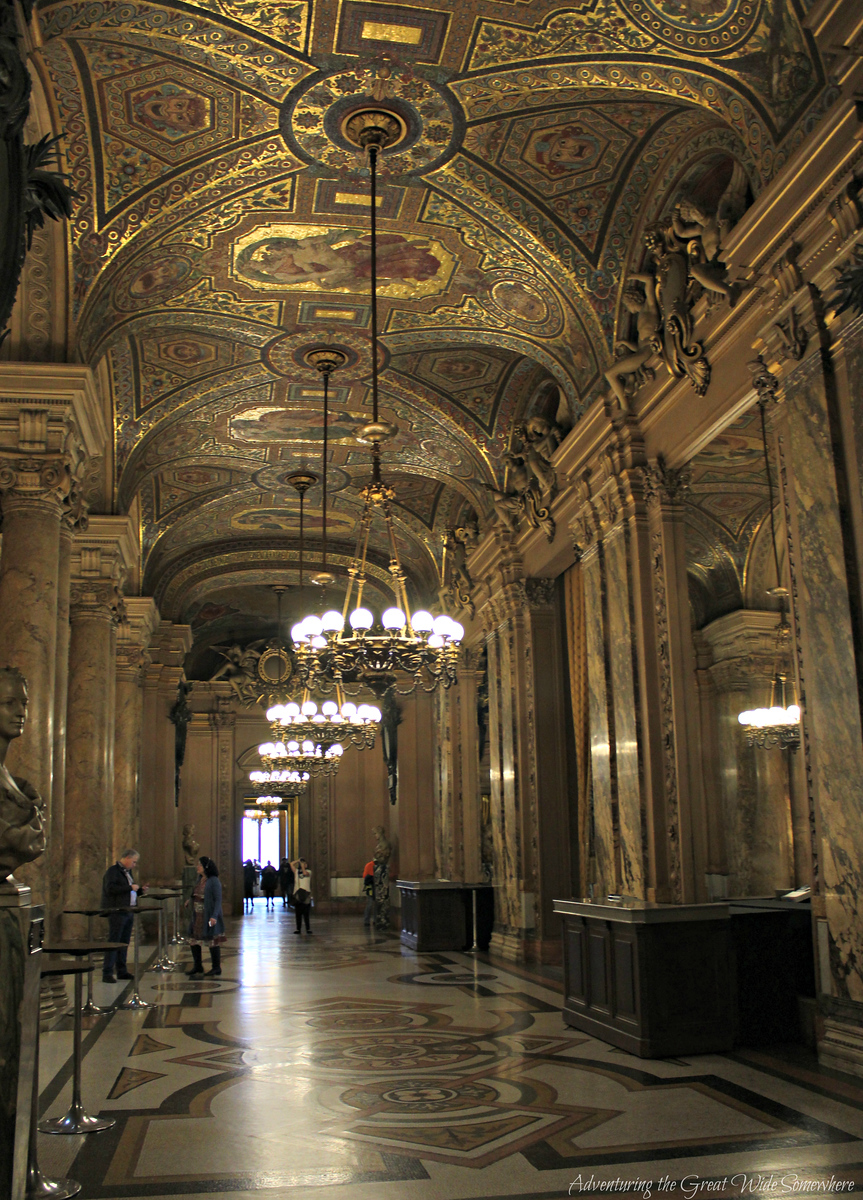 A Lovely Gilded Hallway in the Palais Garnier, or Paris Opera House