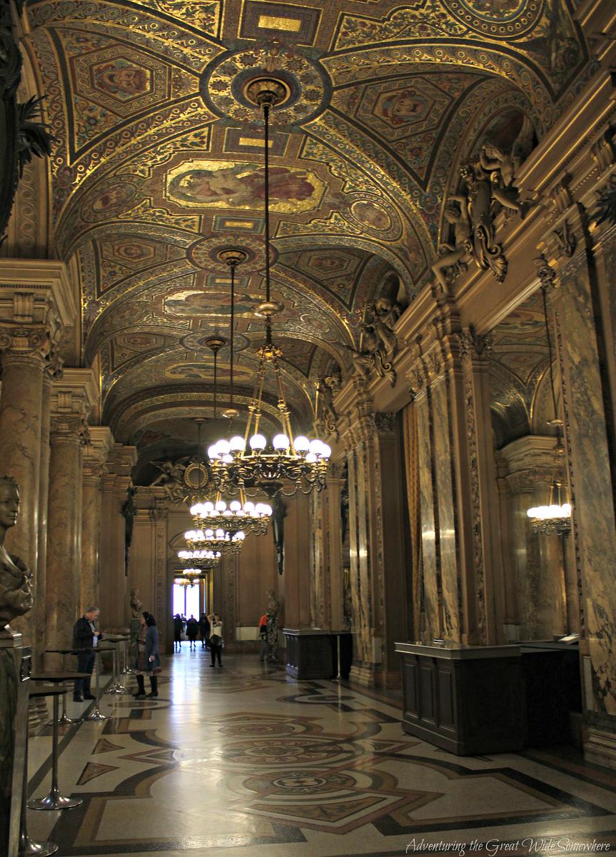 A Lovely Gilded Hallway in the Palais Garnier, or Paris Opera House