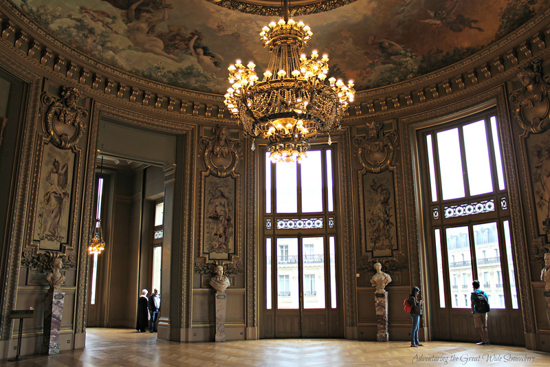 A Room for Socializing at the Palais Garnier, or Paris Opera House