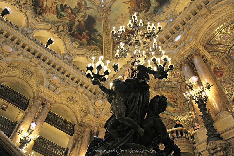 Beautiful Candle-Laden Statues inside the Palais Garnier Remind me of the Phantom of the Opera