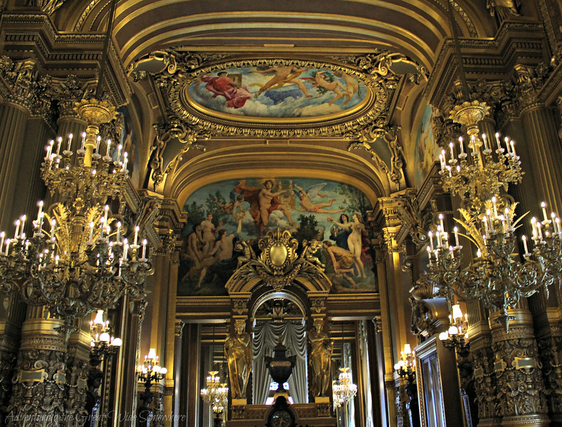 Golden Details in the Grand Foyer of the Palais Garnier