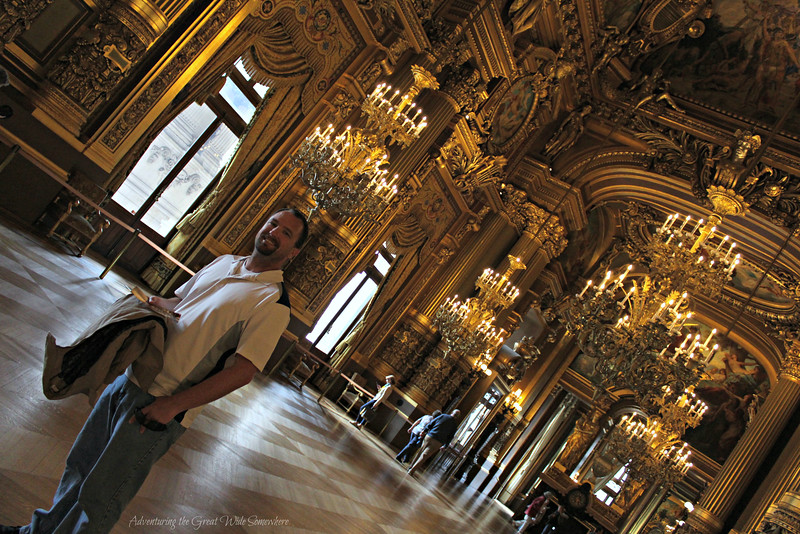 Dan marveling that we had the Palais Garnier pretty much to ourselves!