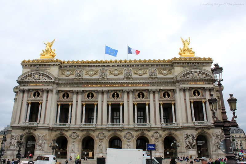 The beautiful exterior of the Palais Garnier in Paris, France.