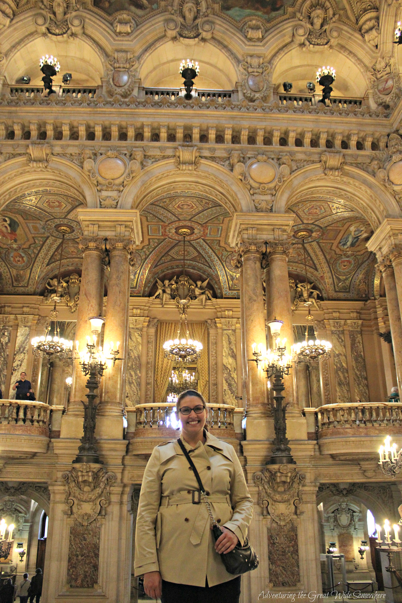 Standing on the Opulent Grand Staircase of the Palais Garnier