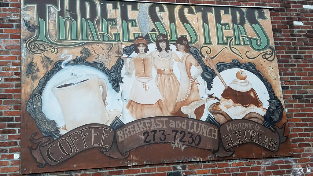 Three Sisters street art mural