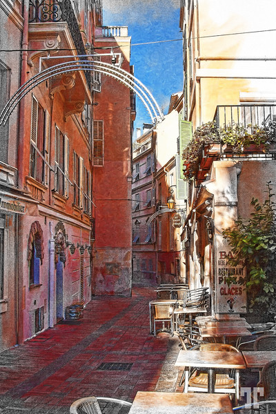 Narrow street Monaco
