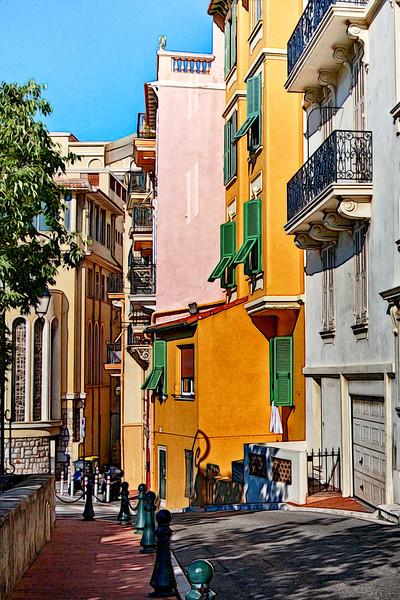 Street and buildings in Monaco City