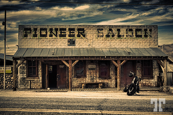 Pioneer Saloon in Good Springs near Las Vegas, Nevada looking creepy