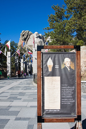 Tomas Jefferson's ice cream recipe at Rushmore monument