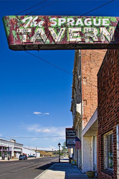 The Sprague Tavern antique sign