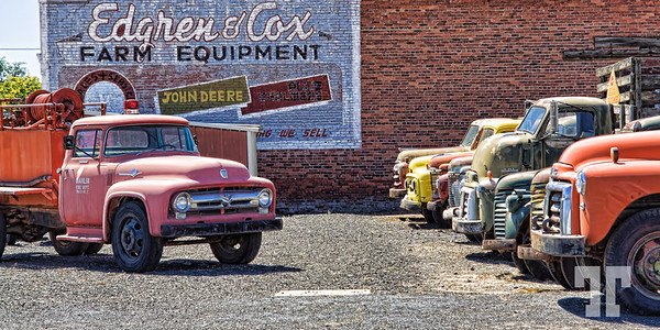 Old trucks in Sprague, Washington state