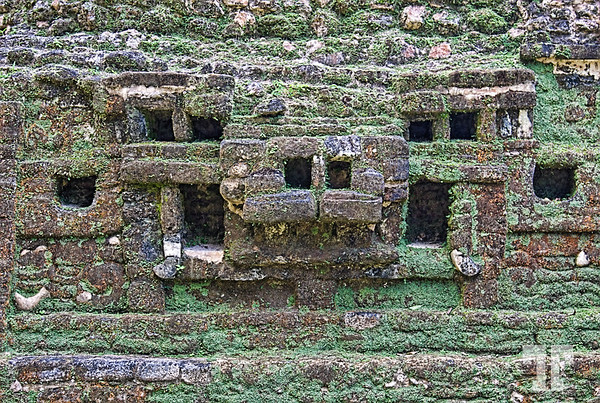Belize Lamanay Mayan ruins abstract