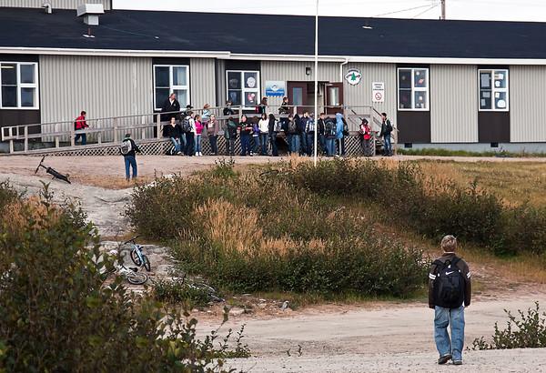 School in St. Mary's harbor, Labrador