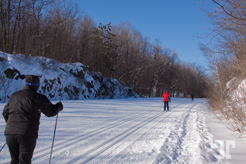 Cross country skiying in Gatineau Park, Quebec,Canada