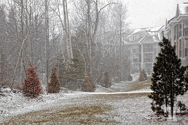 April snow in Blue Mountain, Collingwood, Ontario
