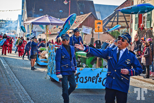Aviators at Gottenheim parade