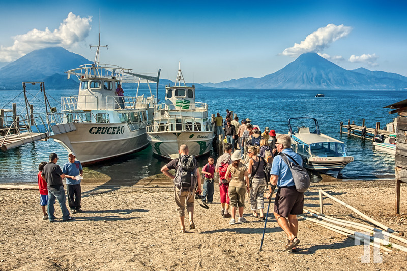 Tourists At Lake Atitlan, Guatemala