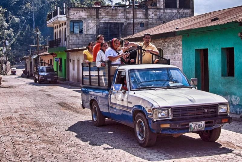 Public transportation in Santiago, Guatemala