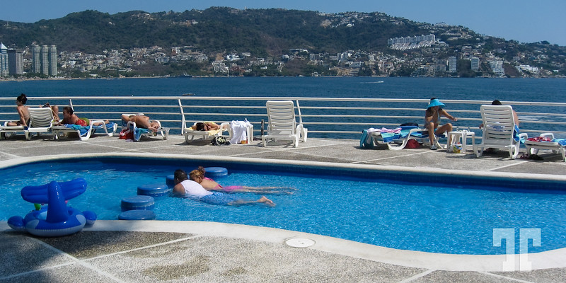 Hotel pool in Acapulco
