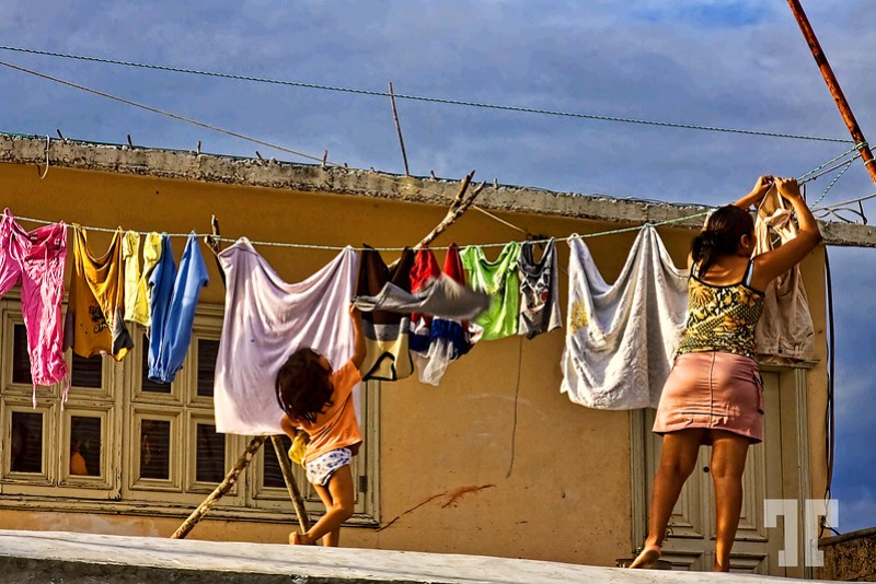Laundry day in Cozumel, Mexico