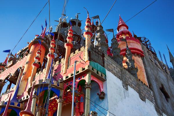 Duendes castle in Vila de Etla, Oaxaca, Mexico